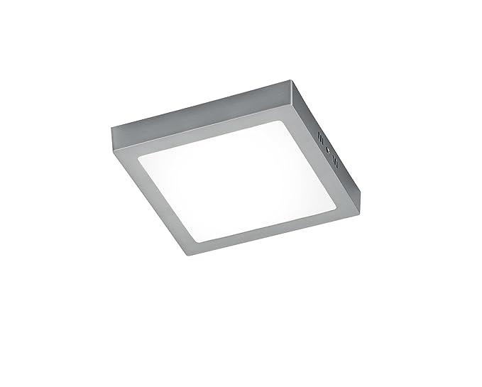 Trio 657110601 - Plafón cuadrado, 6 W, IP20, SMD, 700 lúmenes, 3000K, 230 V, color blanco: Amazon.es: Iluminación