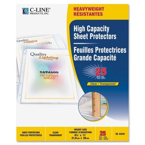 Loading High Capacity Sheet Protectors (Wholesale CASE of 25 - C-Line High-Capacity Top-Loading Sheet Protectors-Top Load Sheet Protector, 50-Sht Cap, 8-1/2