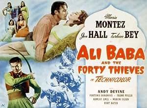 Ali Baba y los cuarenta ladrones Póster de película C 11x 17en–28cm x 44cm Jon Hall Turhan Bey María Montez Andy Devine Kurt Katch Frank Puglia