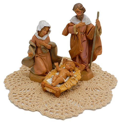 Fontanini by Roman Nativity Set and Figurines with Westbraid Doily (Holy Family, Figurines) (Bridge To Holy Cross)
