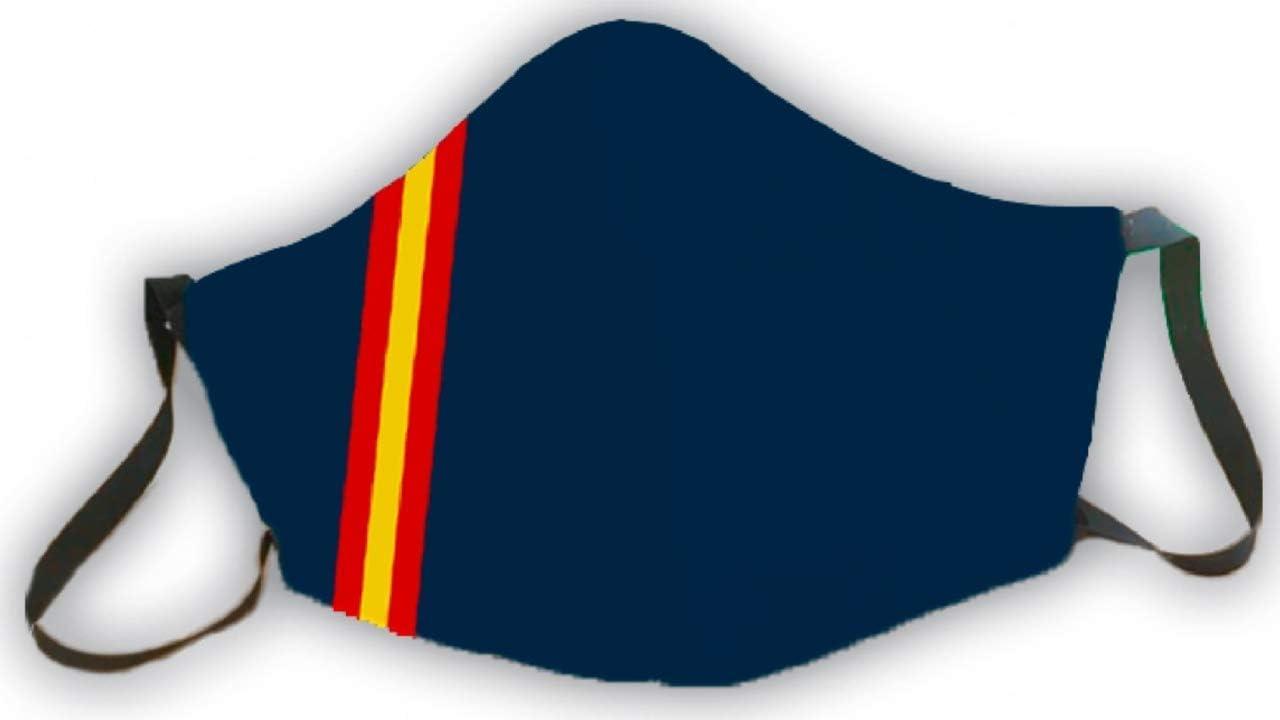 Mascarilla protectora reutilizable azul bandera de España 3 capas