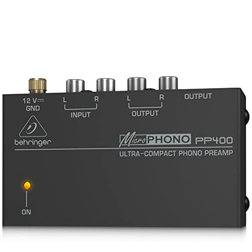 Behringer PP400 Microphono Ultra Compact Phono Preamp assorted colour