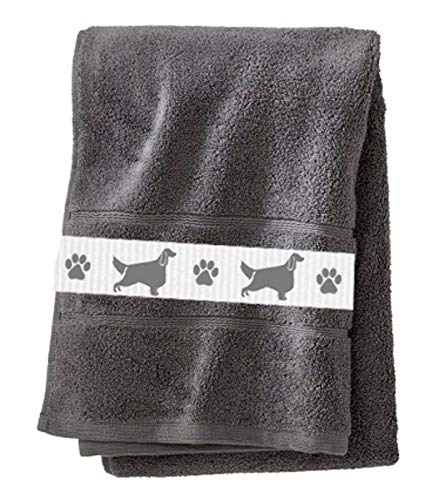 Irish Setter Dog Towel - Heavy Cotton Bath Towel - In Your Choice of Colors - With or Without Name - Custom ()