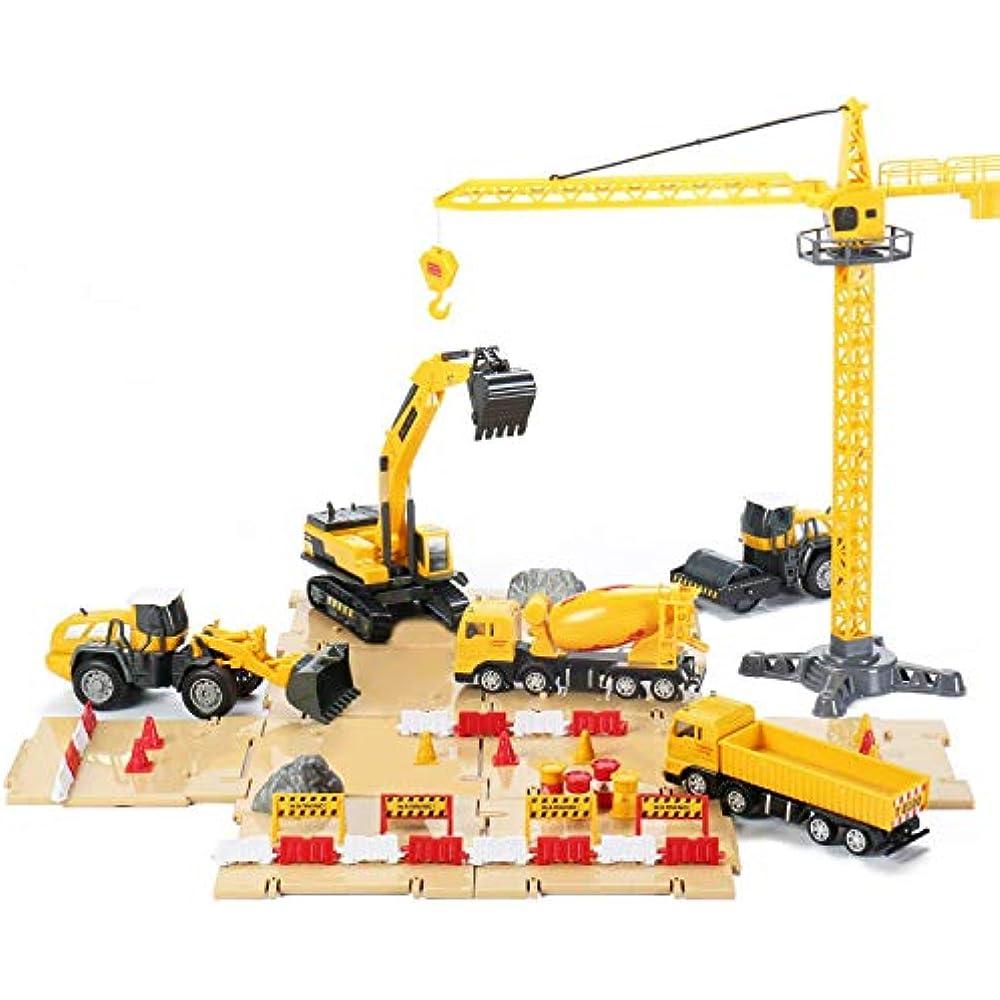 Engineering Construction Play Set Bulldozer Forklift Crane Steamroller Dump