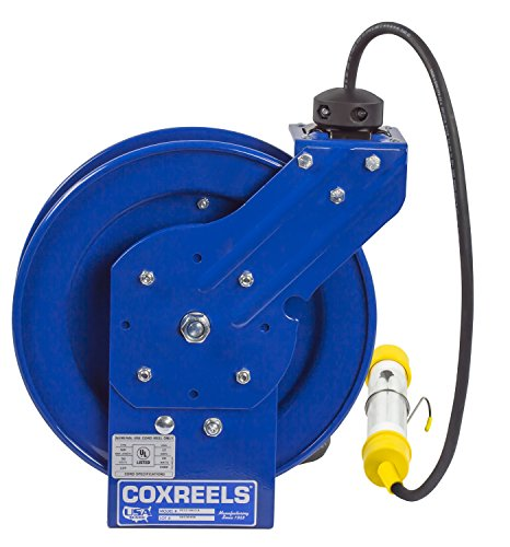 Coxreels EZ-PC13-5016-C Safety Series Spring Rewind Power Cord Reel: Fluorescent Tube Light, 50' cord, 16 AWG by Coxreels (Image #2)