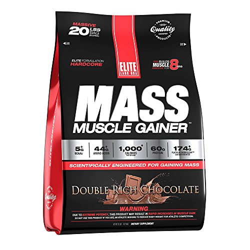 (Elite Labs USA MASS MUSCLE GAINER, VANILLA ICE CREAM 20 LBS)