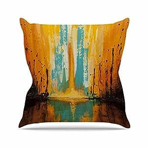 "KESS inhouse sd1025aop0318x 45,7""Steven Dix Inception o nacimiento Azul Naranja"" Cojín Manta de exterior, multicolor"