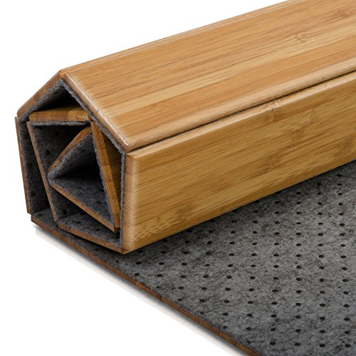 Casa Pura Tapis De Bain Emma En Bambou Tapis De Sauna 2 Coloris 60x90cm Dos Antiglisse Nature