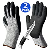 Grip Cut Resistant Gloves 2pack, Non-Slip Breathable Work Gloves, Grip Coating Durable for Gardening Fishing Car Repairing Construction Mechanic Multipurpose Use.