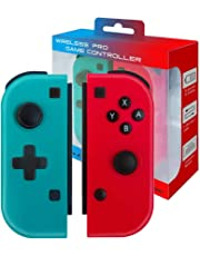 JFUNE Set De Dos Mandos Joy-Con para Nintendo Switch, Inalámbrico Switch Joycon Mando Wireless Switch Joycon Pair (R/L)
