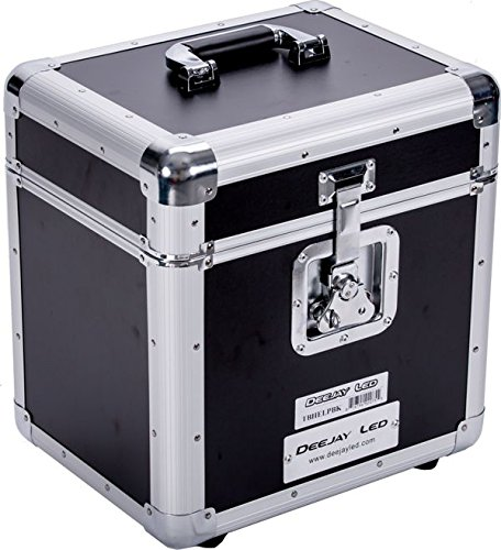 Lp Case (DEEJAY LED TBHELPBK Fly Drive LP Record Case For 80 LP Records)