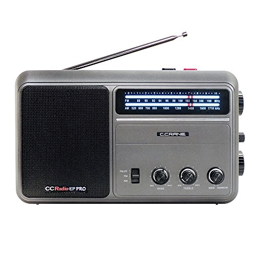 C. Crane CCRadio - EP PRO AM FM Battery Operated Portable Analog Radio with DSP (Pro Crane Parts)