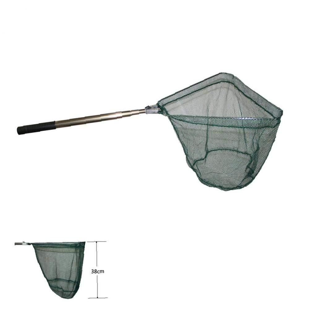 OMMO LEBEINDR Durable Fisch Kescher Auto Faltbare Nylonfisch Mit Teleskopstange Griff Fischerei Fisch Tackle Kescher