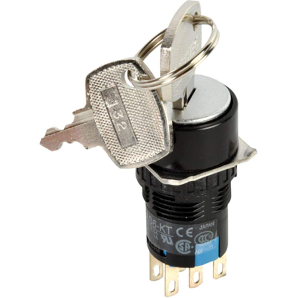 Switch; 16mm; Key Switch; 2 Pos, Pack of 2