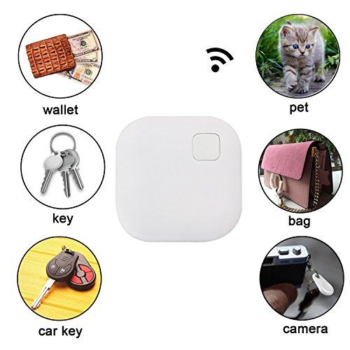 Eccbox Key Finder,Smart Bluetooth Tracker Anti Lost Locator Alarm Wireless Anti-Theft Sensor Remote Selfie Shutter Seeker Finder for Kids, Pet,Wallet, Keys, Car,Smart Phones (Multi-shape-5pcs) by Eccbox (Image #4)