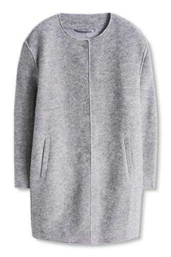 Esprit Damen Mantel Flauschig Grau Light Grey 5 044 42 Amazon