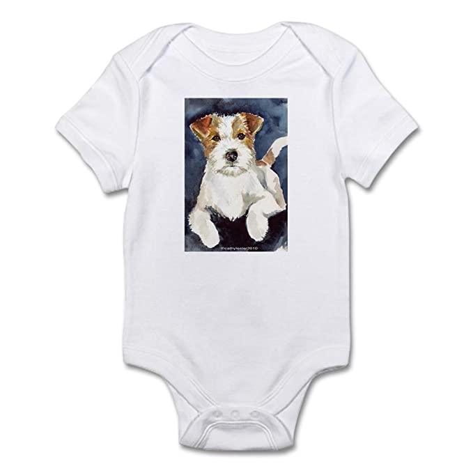 dad27008f1 CafePress Jack Russell Terrier 2 Infant Bodysuit Cute Infant Bodysuit Baby  Romper Cloud White