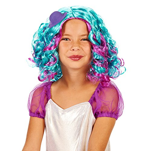 Blue and Purple Pastel Child Wig with Mini Hat - Wig Catalogs