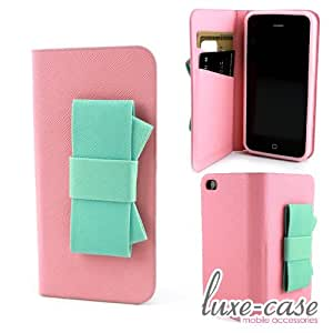 iphone 5s case amazon mint pink bow saffiano leather iphone 5 5s 3832