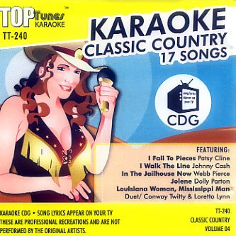 Top Tunes Karaoke CD+G Classic Country Vol. 4 TT-240