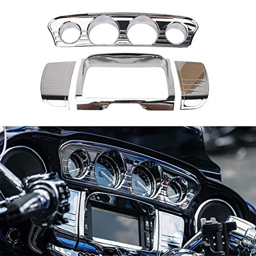 Tri-Line Gauge Trim Cover For Harley Touring Electra Glides 2014-2017(Type 2):