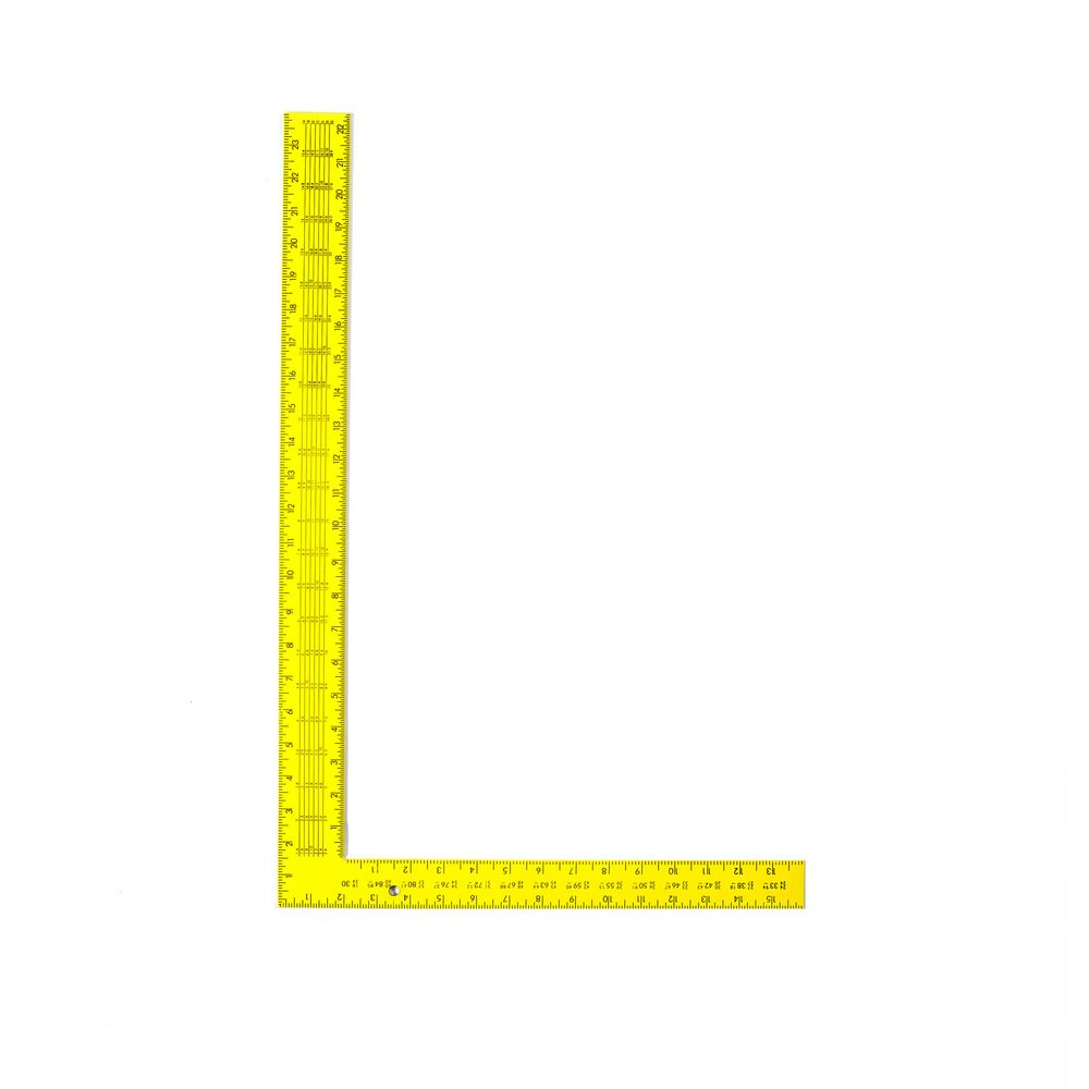 Swanson Tool TS154 Steel Rafter Square 16 Inch X 24 Inch Yellow with Black Gradations