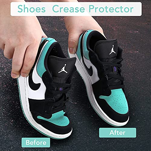 4 Pairs NURWOUE Shoes Crease Guards, Toe Box Crease Preventers, Against Sneaker Shoes Creases, Anti-Wrinkle Shoes Crease Protectors for Men's 7-12/ Women's 5.5-8.5