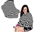 BABY RAP Nursing Breastfeeding Maternity Scarf Poncho – Baby Stroller Cover - Shopping Cart Cover – Car Seat Canopy – Baby Shower Gift Set – Multi Use Infinity Shawl – Lightweight Blanket