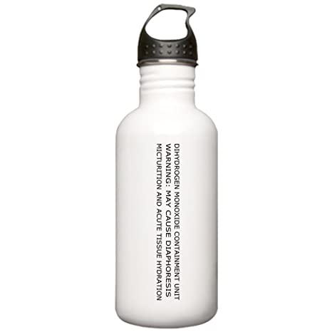 07ba08ac24 Amazon.com: CafePress - Dihydrogen Monoxide Containment Water Bottle -  Stainless Steel Water Bottle, 1.0L Sports Bottle: Kitchen & Dining
