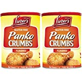 Lieber's Panko Crumbs Flavored, Gluten Free, Kosher For Passover, 7 Ounce Canister (2-Pack)