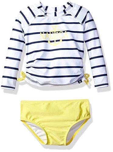 Nautica Sleeve Rashguard Stripe Bikini