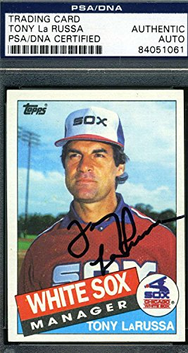 (TONY LARUSSA PSA DNA COA Autographed 1985 TOPPS Authentic Hand Signed)