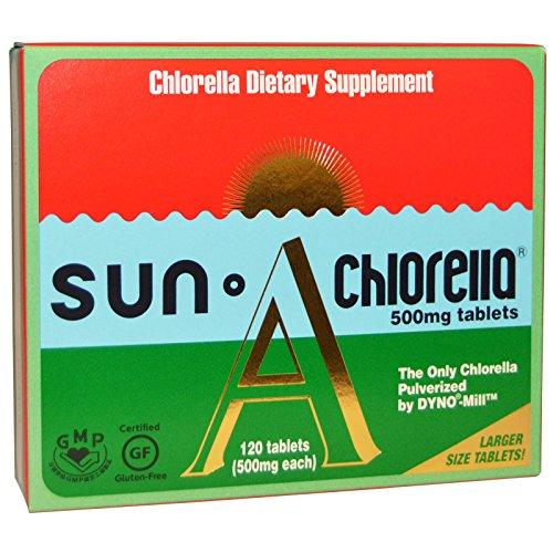 Sun Chlorella, Sun Chlorella A, 500 mg, 120 Tablets - 2pc