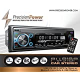 PrecisionPower PV-91BP 1-DIN FM/AM & MP3 Car stereo w/Bluetooth Conectivety & USB Playback