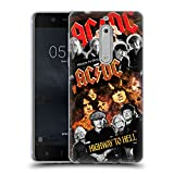 Official AC/DC ACDC Group Collage Soft Gel Case for Nokia 5
