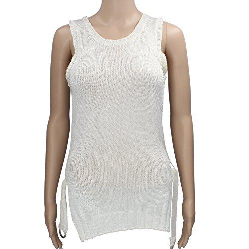MARIA DI RIPABIANCA Size 42 Top Donna Bianco Panna Viscosa