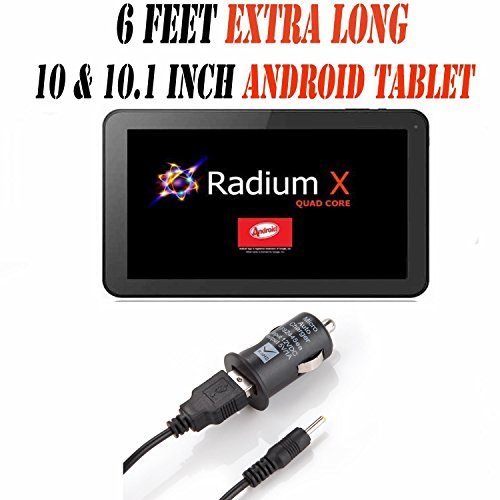 6 Feet Ac/dc Charger Adapter (6c) for 10.1 Inch Android Tablet Pc Wall Fits (Pumpkin X Radium X 10.1