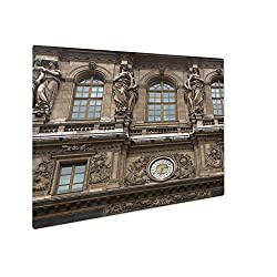Ashley Giclee Metal Panel Print, Renaissance Facades Of The Louvre Museum In Paris France, 8x10