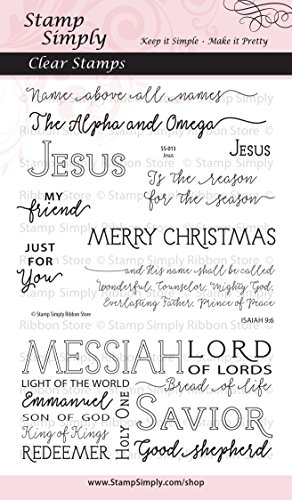 Stamp Simply Clear Stamps 1-Pack Jesus Christian Religious 10 Pieces 4x6 Inch (Blessings Clear Acrylic Stamps)