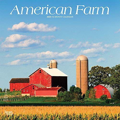American Farm 2020 12 x 12 Inch Monthly Square Wall Calendar, USA United States of America Scenic Rural