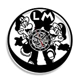 Super Mario Vinyl Record Wall Clock. Decor for your kids room. Gift for baby, children. Leave a feedback for us