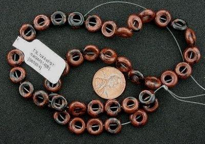 (10mm Donut Mahogany Obsidian Beads)
