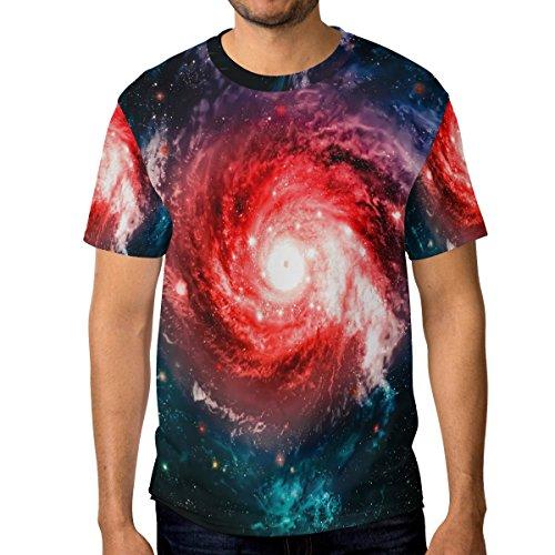 Galaxy Homme À Multicolore Du Décontracté Ras Manches 3d Cou shirt Et T Courtes Alaza Nébuleuse qAXx5aqn