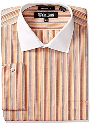 STACY ADAMS Mens Big and Tall Big & Tall Multi Stripe Classic Fit Dress Shirt