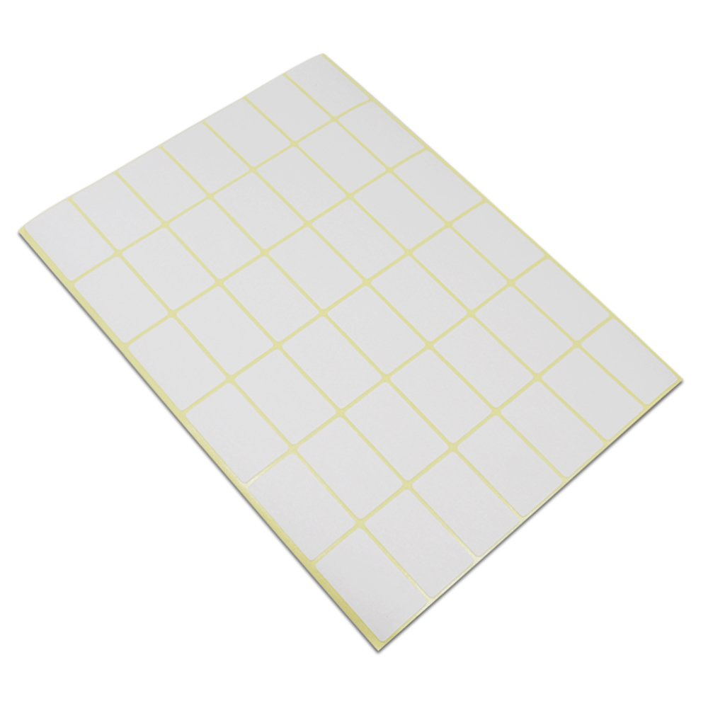 Multiple Purpose Self Adhesive Labels for Inventory Office Industrial Supplies Blank Rectangle Writable Appliance Accessories Stickers (0.7x1.3 inch / 25200 pieces(600 sheets))