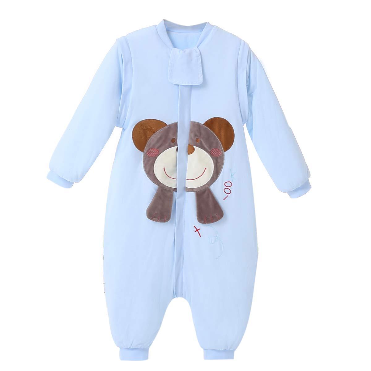 Gigoteuse Bebe Garcon Fille Enfant Tog 2.5 Coton Ours Hiver Taille:1-5 Années à Pied