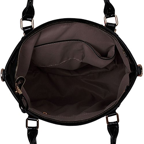 ANNA GRACE - Bolso al hombro de piel sintética para mujer Design 4 - Multi/A