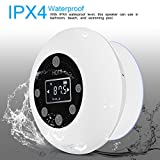 fosa IPX4 Waterproof Wireless Bluetooth Shower Speaker FM Radio Rechargeable Water Proof 2.1 Bluetooth Speaker With Stereo and Bass Audio Outputs Hands-free Call For Bathroom Beach Swimming Pool