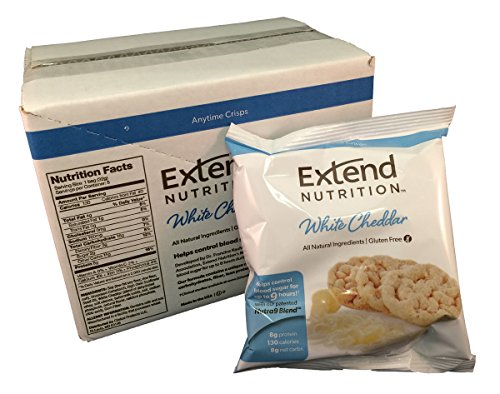 Crisps Cheddar - Extend Crisps, White Cheddar, 1.1 oz. Bags (Pack of 5)