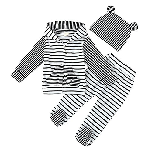 Baby Long Sleeve Tops Stripe Suspenders Pants Clothes Outfit (Multicolor) - 2